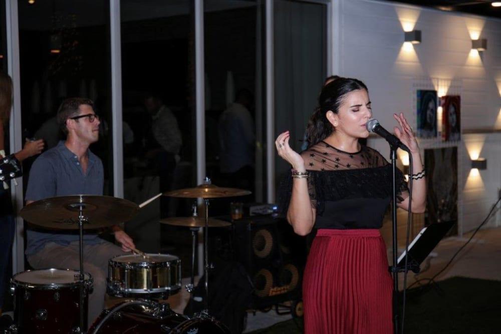 Singer at Yard 8 Midtown in Miami, Florida