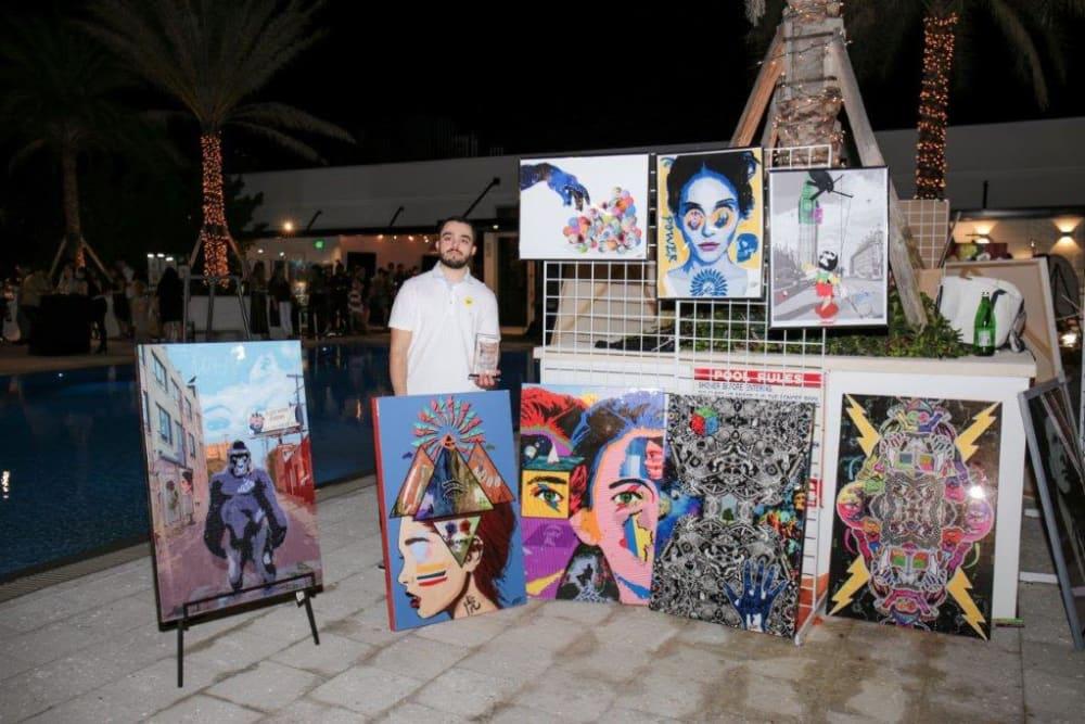 Beautiful art at event at Yard 8 Midtown in Miami, Florida