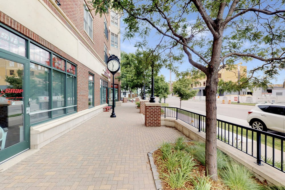 Sidewalk near Oaks Hiawatha Station in Minneapolis, Minnesota