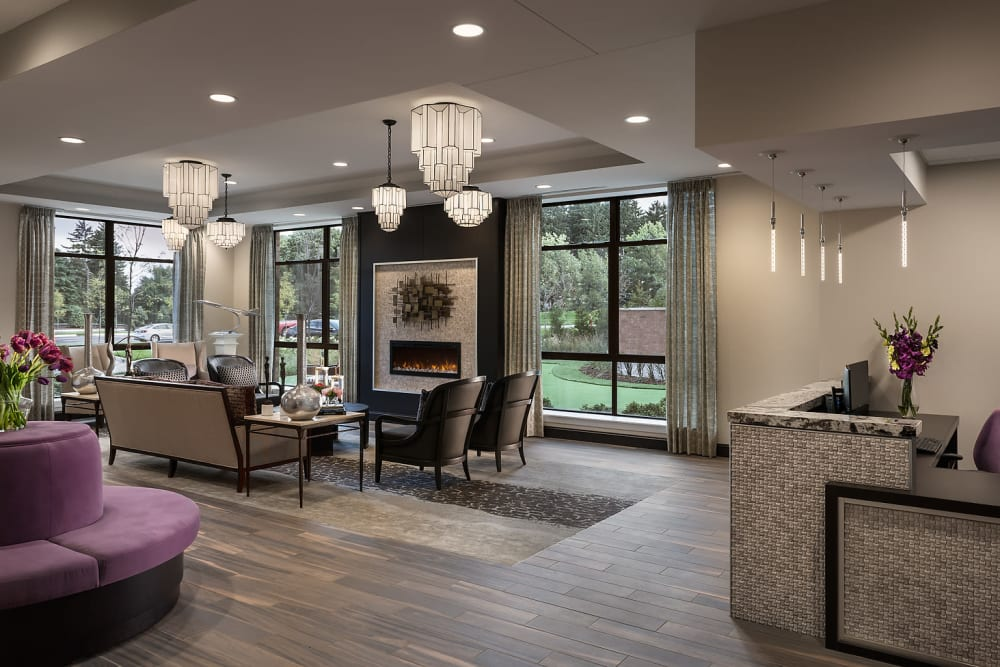 Lobby at Cedarbrook of Rochester
