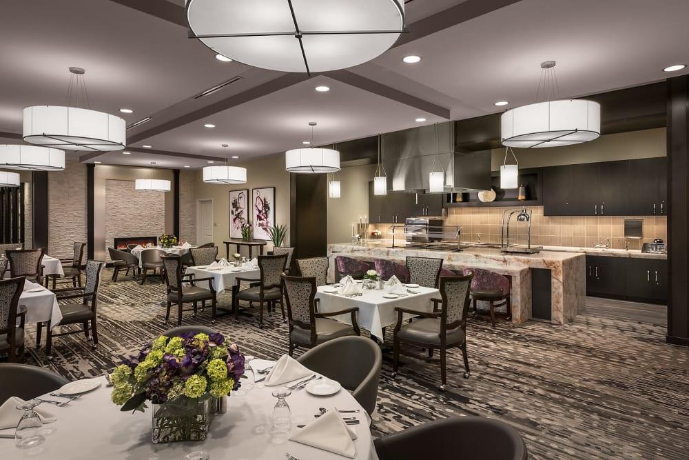 Dining room at Cedarbrook of Rochester