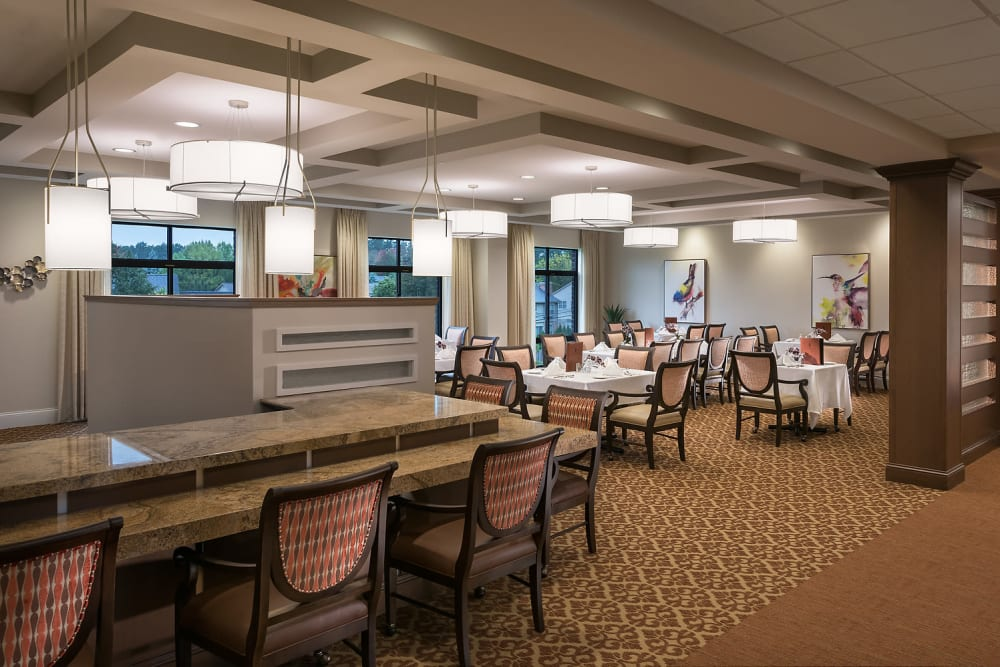Dining room at Cedarbrook of Rochester