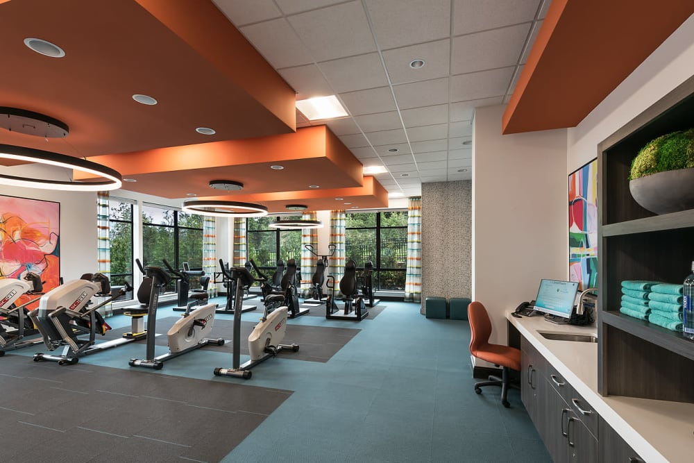 Fitness center at Cedarbrook of Rochester