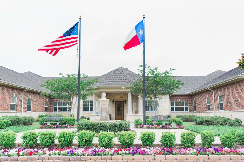 Front entrance at Willow Fork Alzheimer's Special Care Center in Katy, Texas