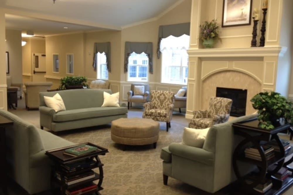Community living room at Willow Fork Alzheimer's Special Care Center in Katy, Texas