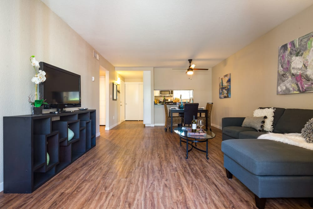 Open-concept floor plan at Haven Martinez in Martinez, California