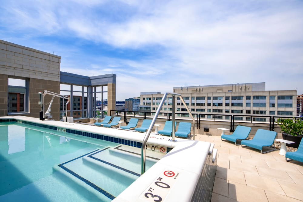 Roof-top view from the pool at Harlow in Washington, District of Columbia