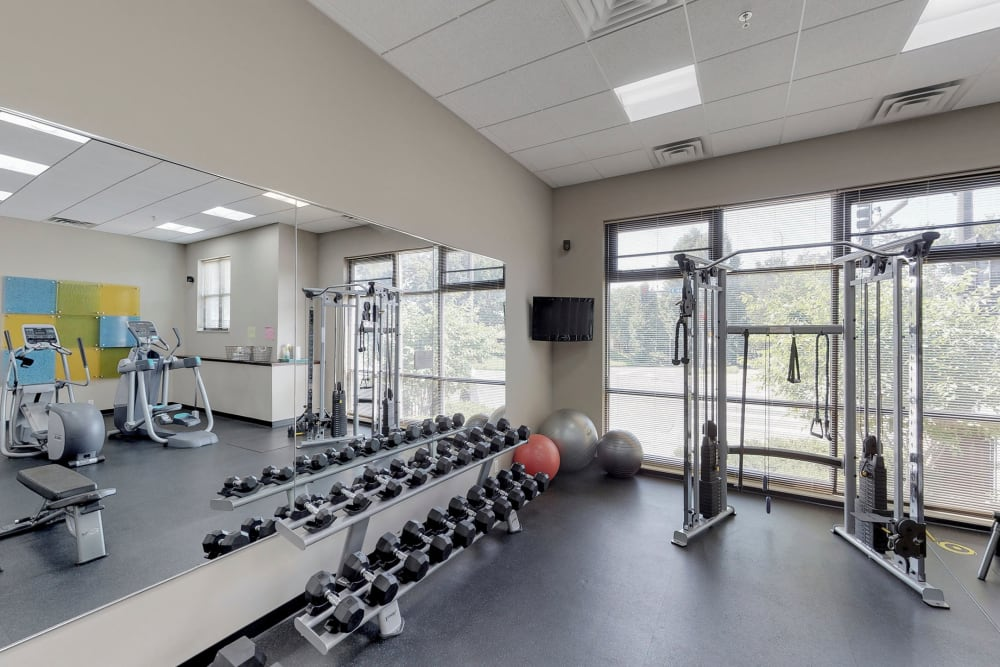 State-of-the-art fitness center at Oaks Station Place in Minneapolis, Minnesota