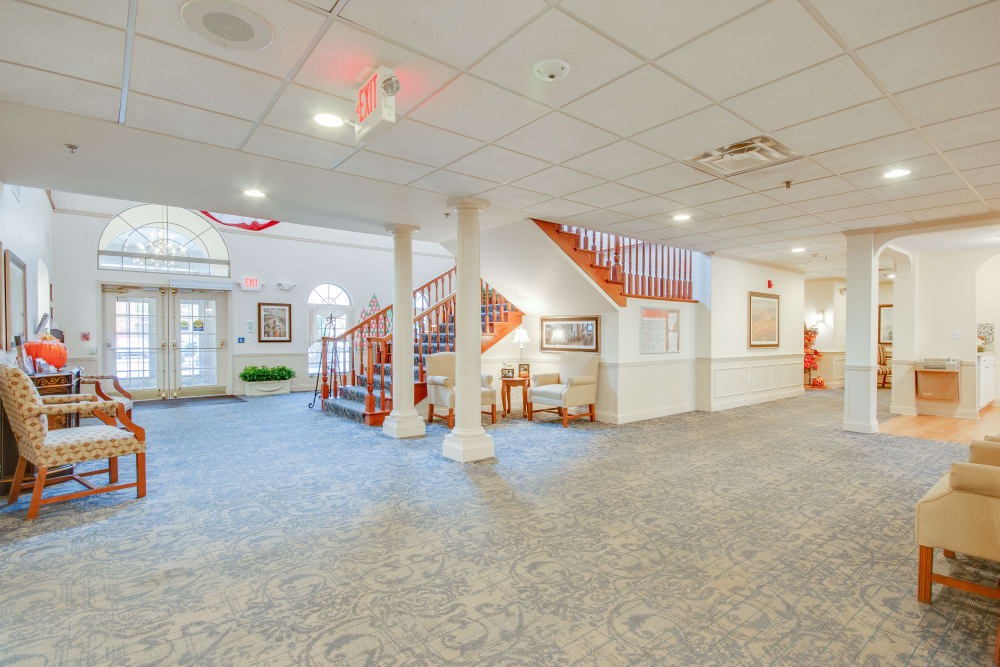 Main common area at Brentwood at LaPorte in La Porte, Indiana