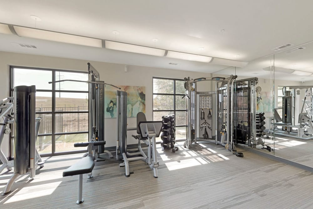 State-of-the-art fitness center at Oaks Trinity in Dallas, Texas