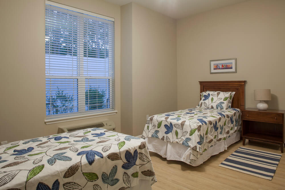 A shared bedroom at San Jose Gardens Alzheimer's Special Care Center in Jacksonville, Florida