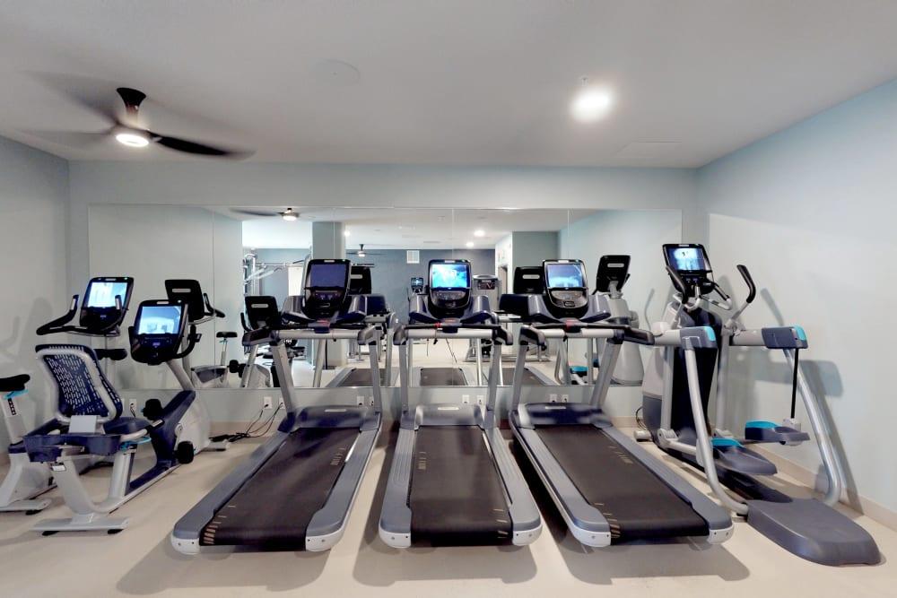 Modern fitness center at Oaks Union Depot in St. Paul, Minnesota