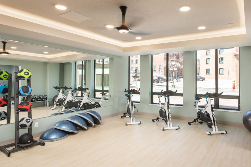 State-of-the-art fitness center at Oaks Union Depot in St. Paul, Minnesota