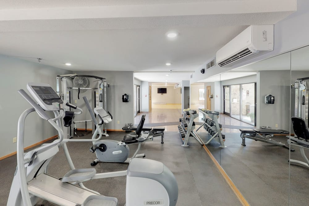 State-of-the-art fitness center at Vernon Oaks in Edina, Minnesota