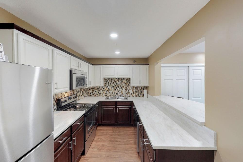 Community kitchen at Vernon Oaks in Edina, Minnesota