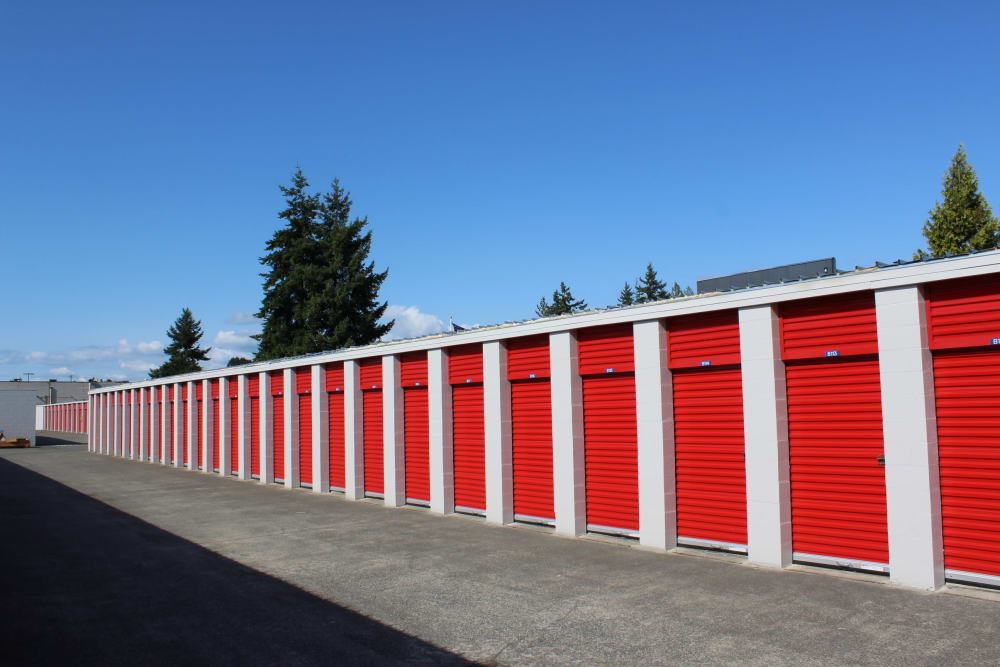 Large and small units at Trojan Storage in Everett, Washington