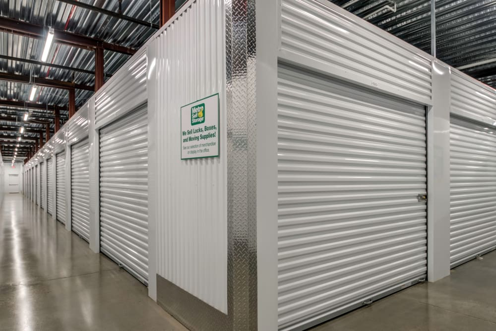 Interior storage units at Metro Self Storage in Westhampton Beach
