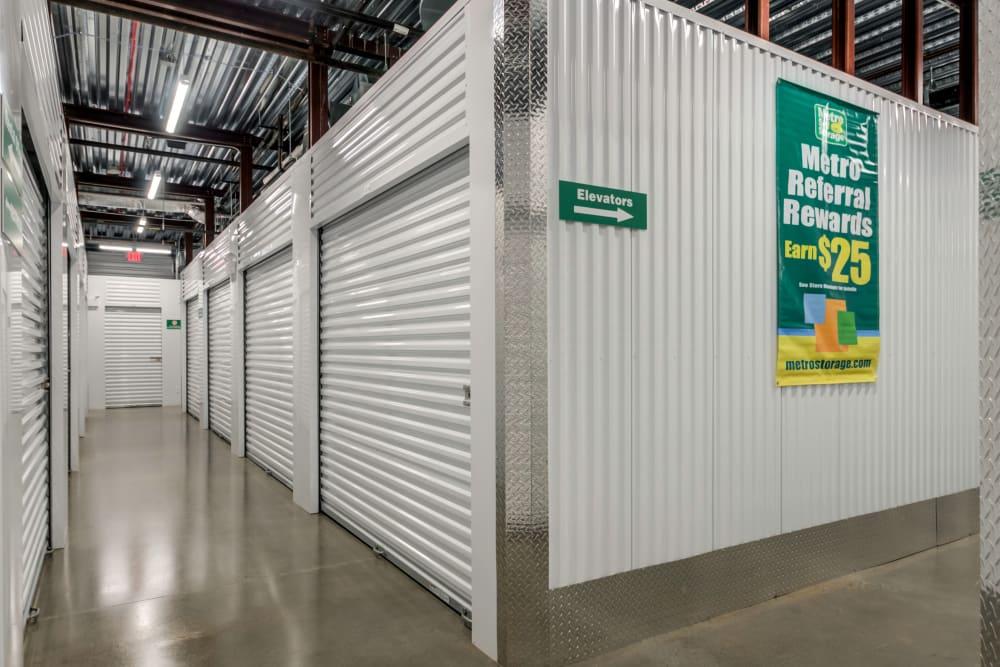 Storage unit roll up doors at Metro Self Storage in Westhampton Beach