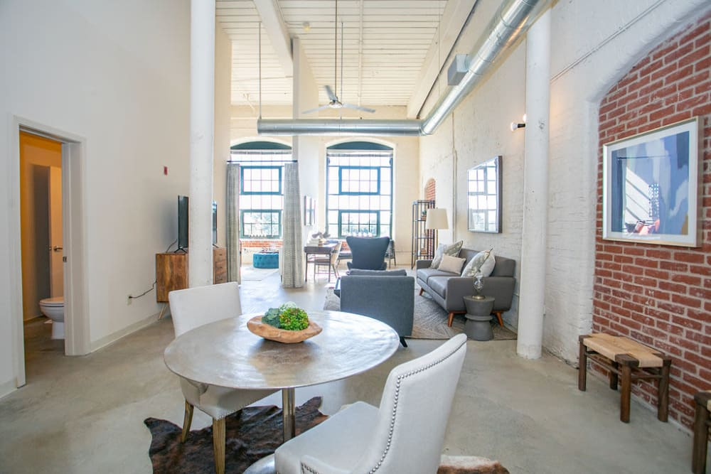 Industrial style living at Lofts at Riverwalk