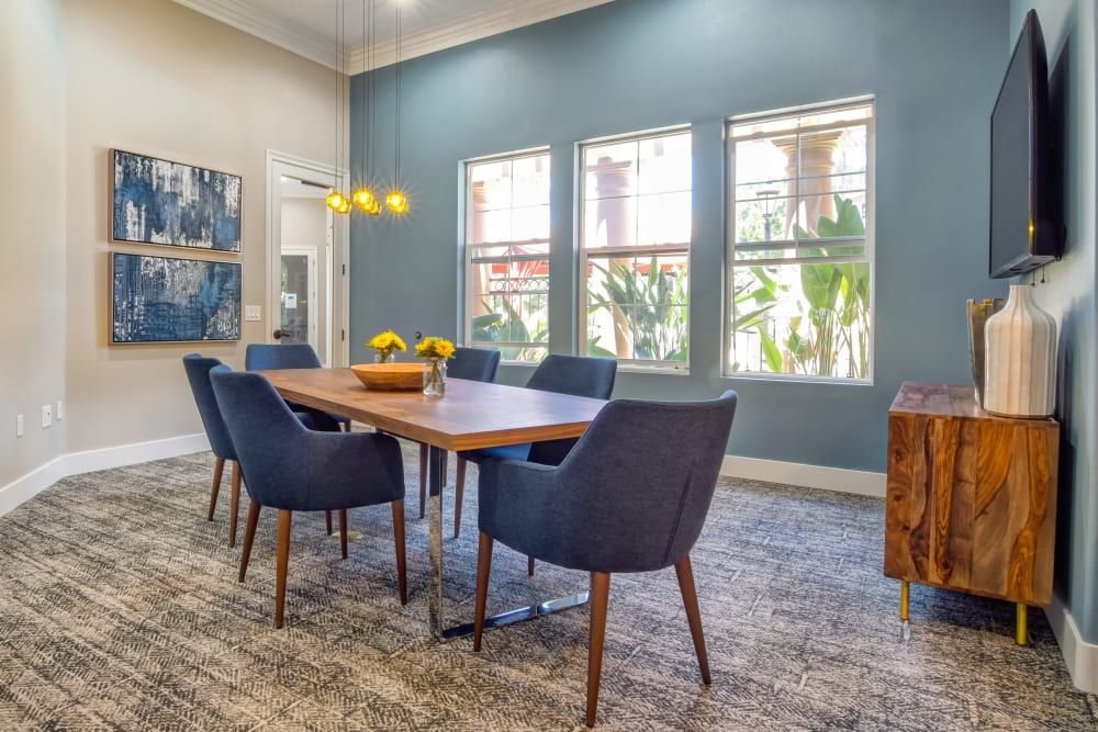 Meeting room in the business center for resident use at Sofi Shadowridge in Vista, California