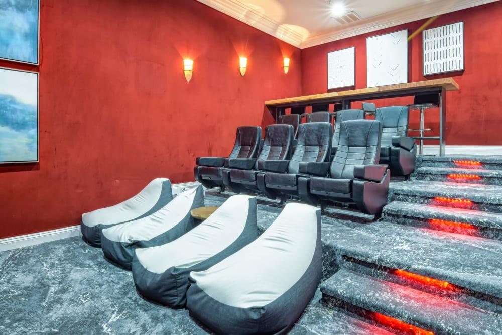 Resident movie theater with plenty of seating at Sofi Shadowridge in Vista, California