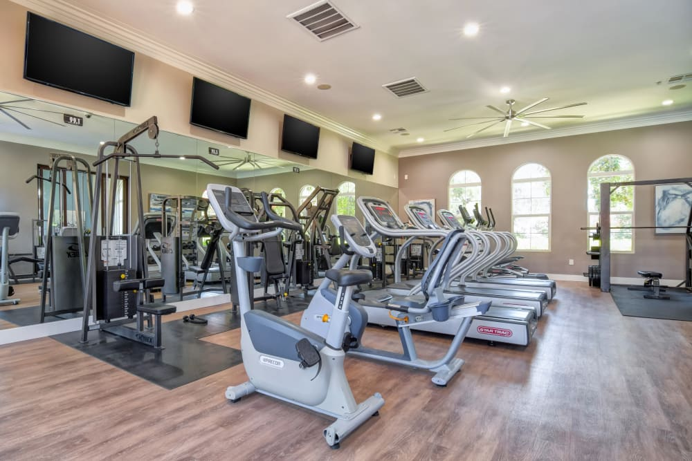 Fitness center with plenty of workout stations at Sofi Shadowridge in Vista, California