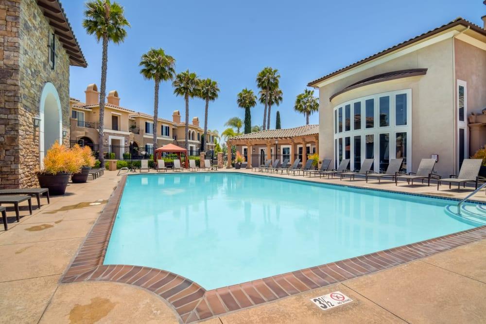 Resort-style swimming pool at Sofi Shadowridge in Vista, California