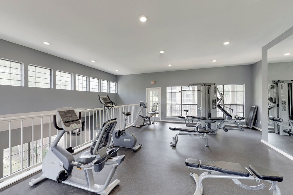 State-of-the-art fitness center at Oaks Hackberry Creek in Irving, Texas