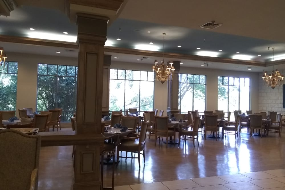 The large dining room at The Inn at Los Patios in San Antonio, Texas