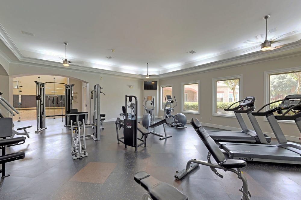 State-of-the-art fitness center at Oaks Riverchase in Coppell, Texas
