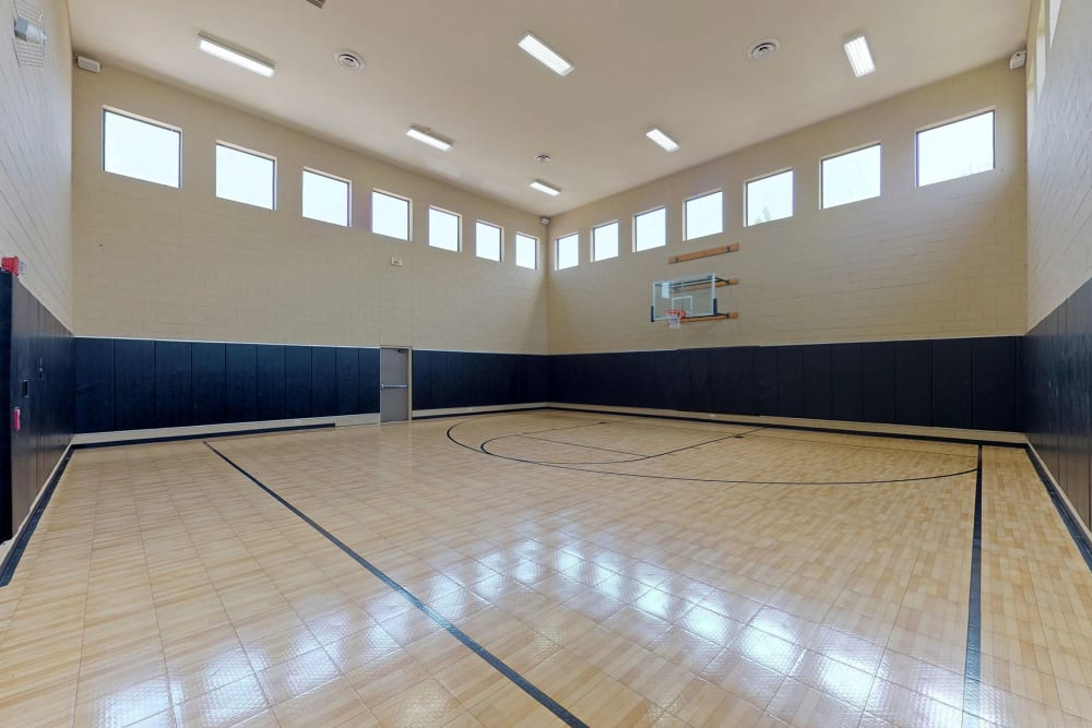 Basketball court at Oaks Riverchase in Coppell, Texas