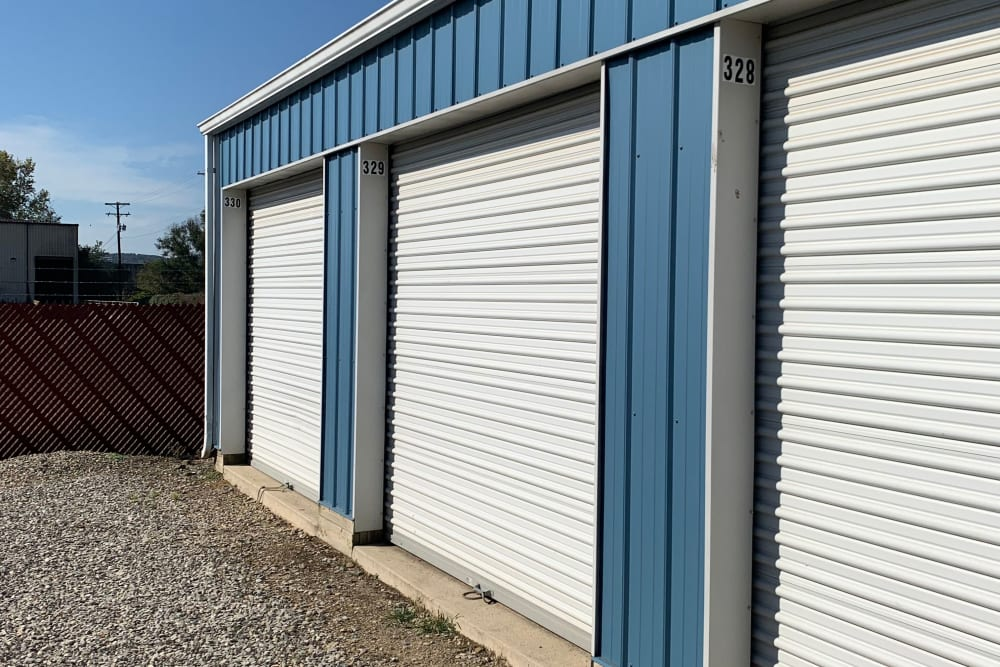 Outdoor storage units at Chillicothe Storage in Chillicothe, Ohio