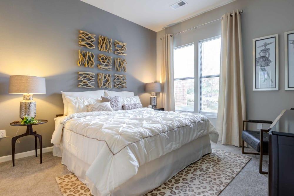 Well lit bedroom at Celsius in Charlotte, North Carolina