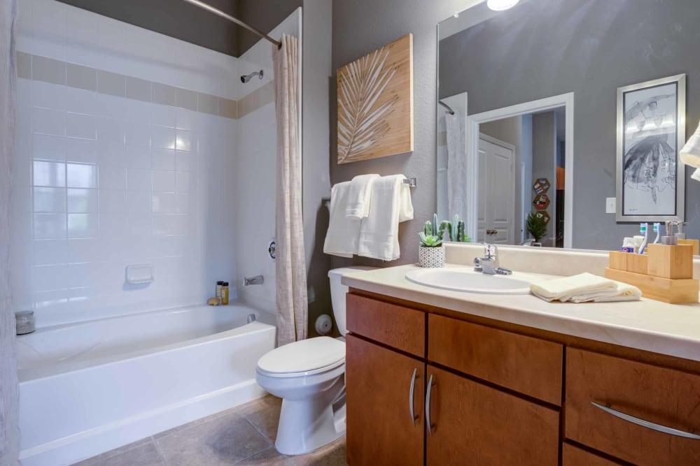 Luxury bathroom at Celsius in Charlotte, North Carolina