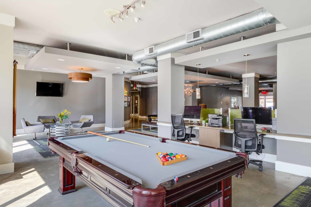 Pool Table at Celsius in Charlotte, North Carolina