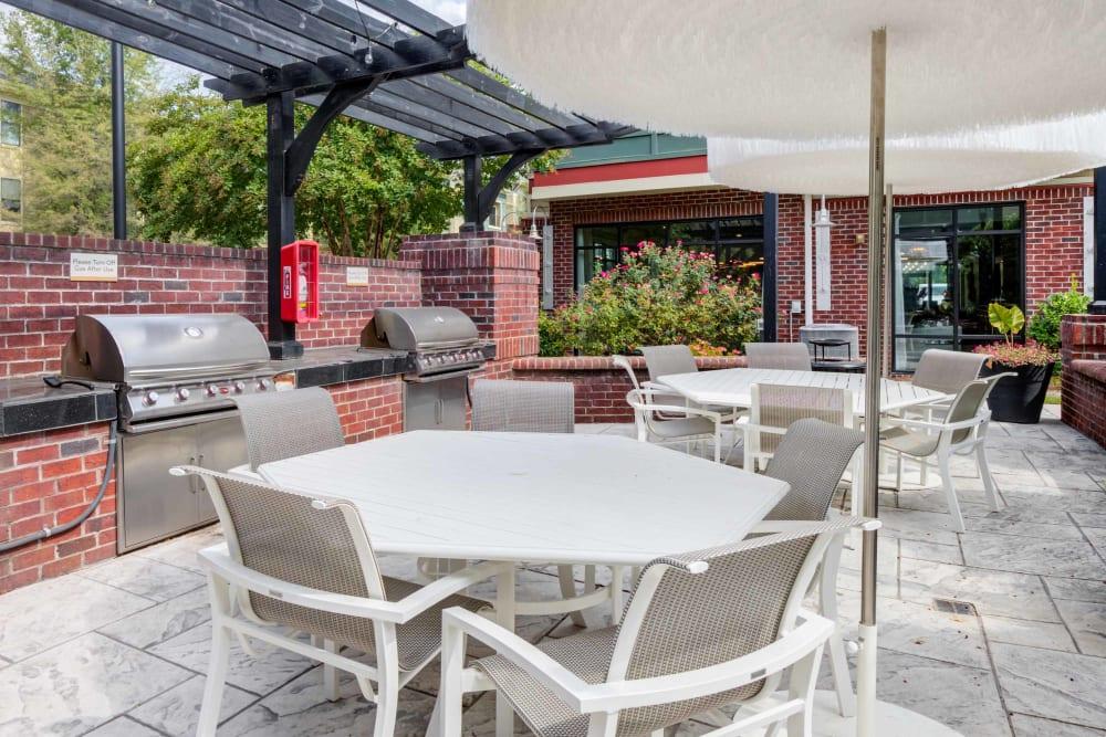 Outdoor bar-b-que patio at Celsius in Charlotte, North Carolina