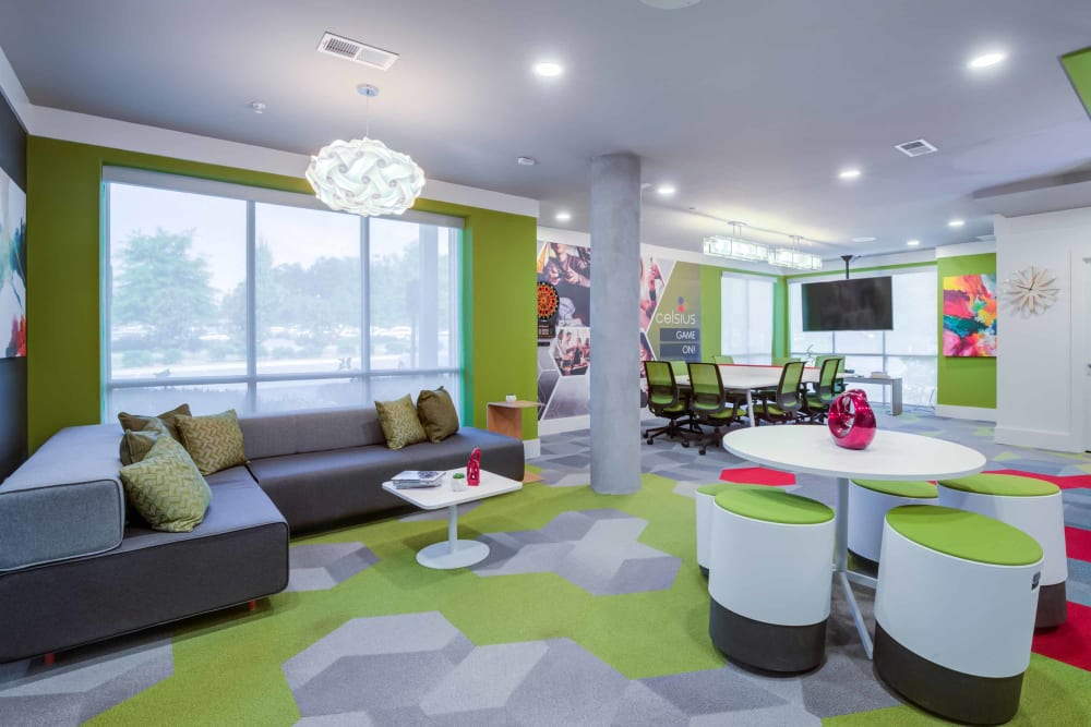 Community meeting space at Celsius in Charlotte, North Carolina