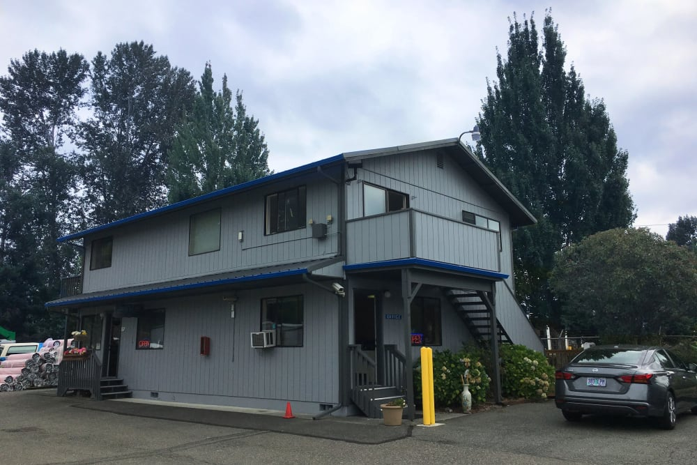 The leasing office at Trojan Storage in Bothell, Washington