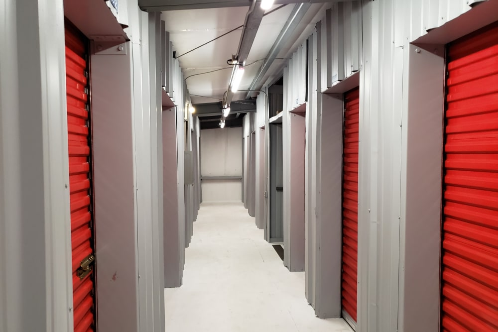 Indoor units at Trojan Storage in Bothell, Washington