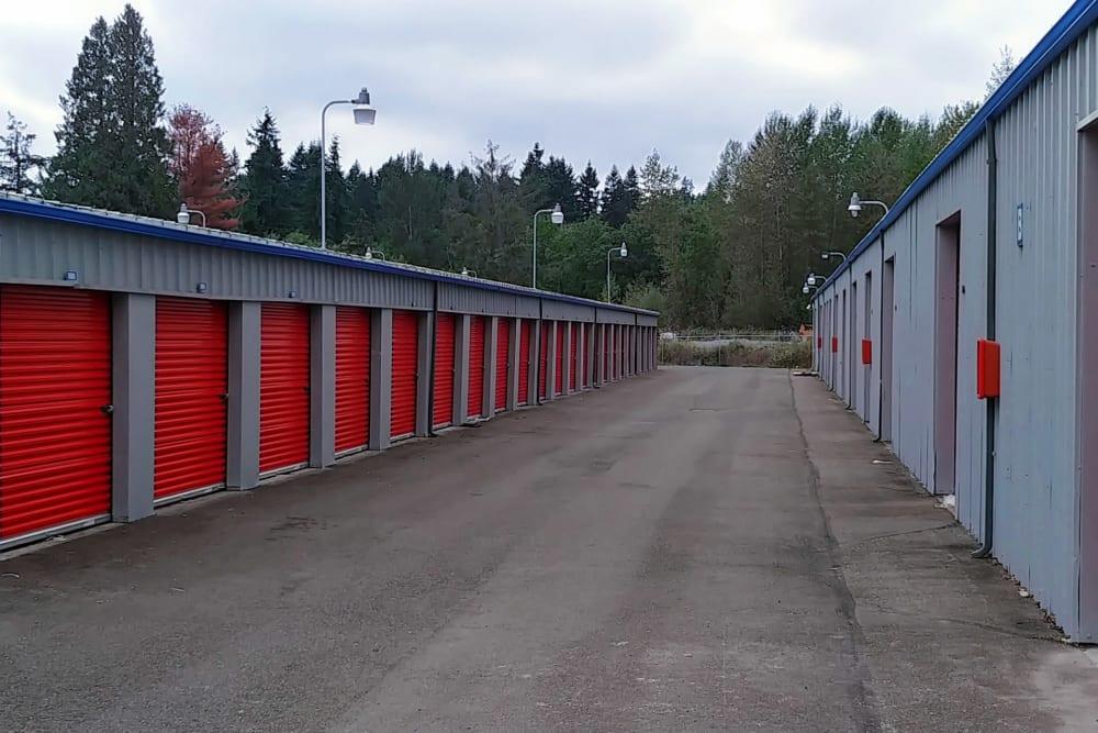 Outdoor units at Trojan Storage in Bothell, Washington
