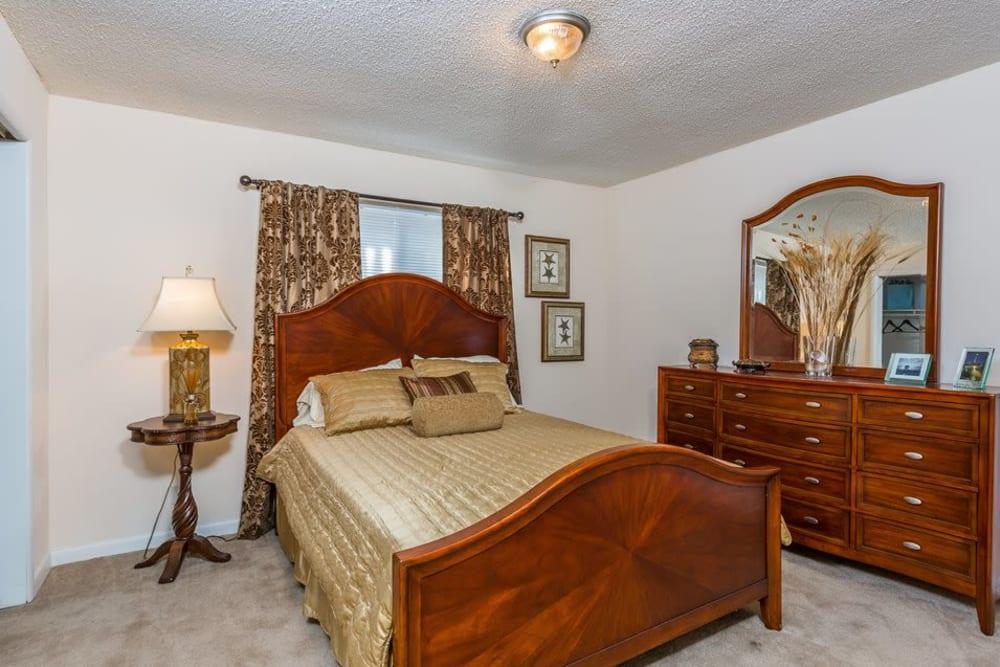 An apartment bedroom at Reserve at Altama in Brunswick, Georgia
