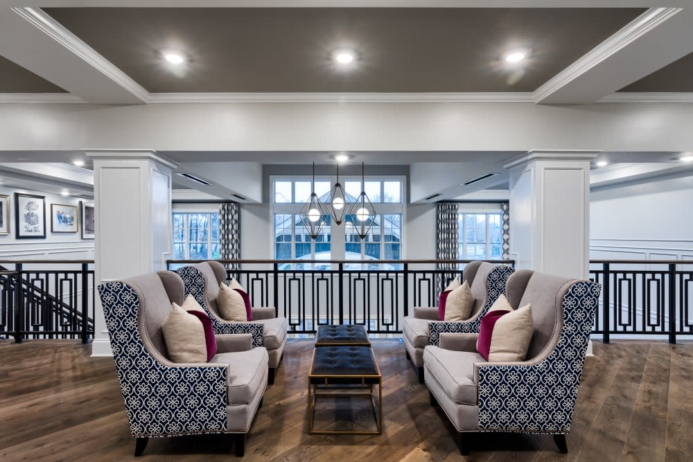 Seating area at Anthology of Meridian Hills in Indianapolis, Indiana