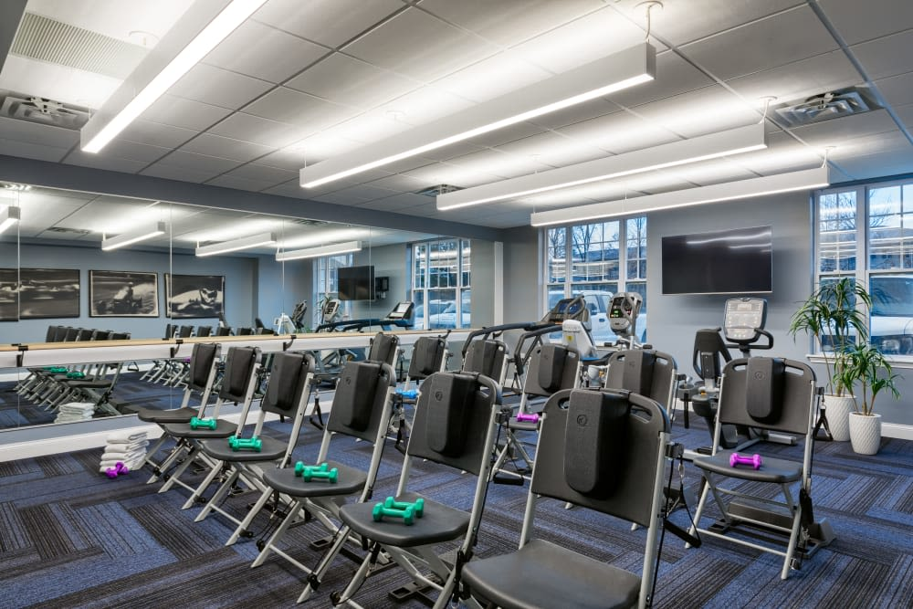 Fitness room at Anthology of Meridian Hills in Indianapolis, Indiana