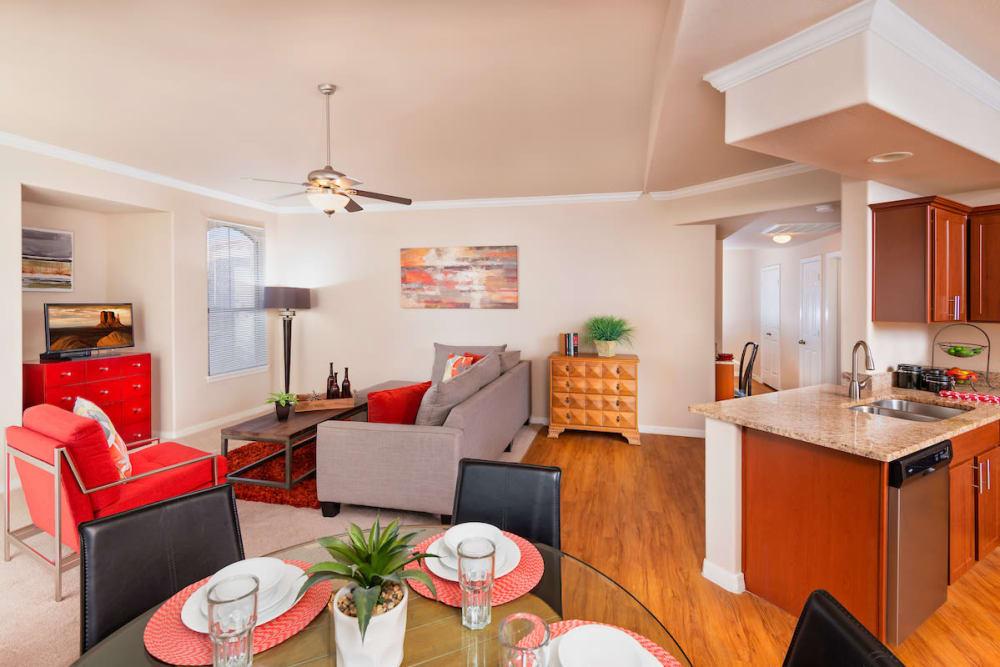 Living Room & Dining Area at Villas on Hampton Avenue in Mesa, Arizona