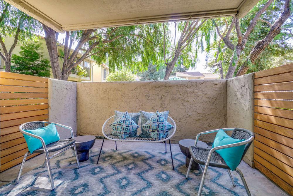 Outdoor seating at Terra Willow Glen in San Jose, California