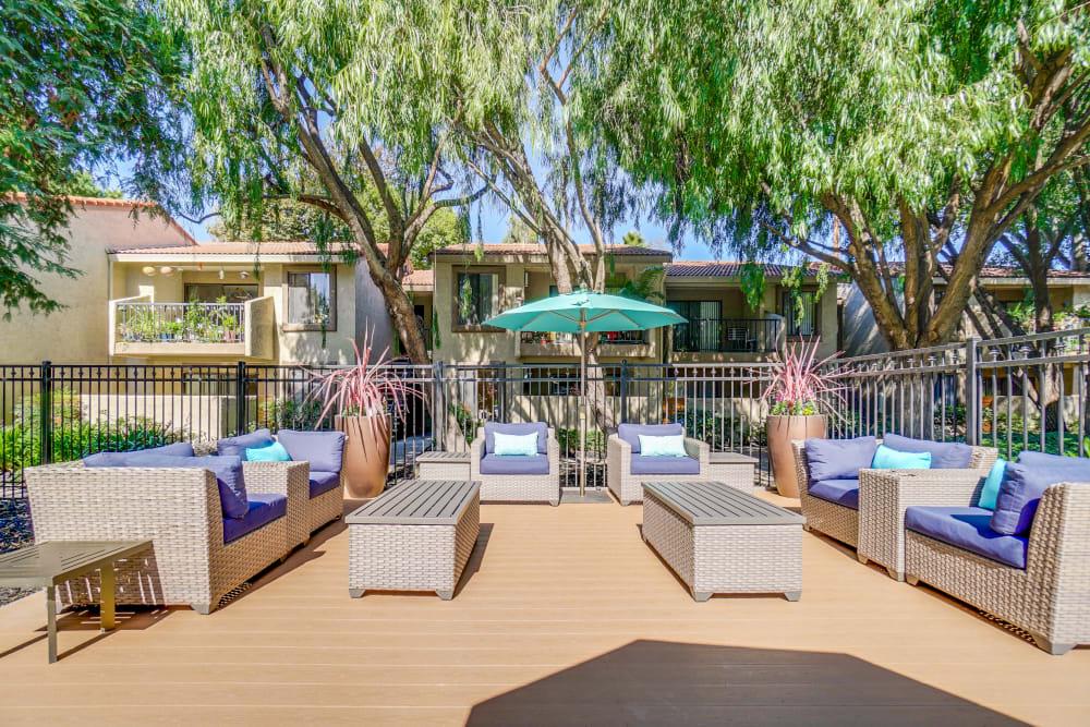 Terra Willow Glen in San Jose, California offers outdoor seating
