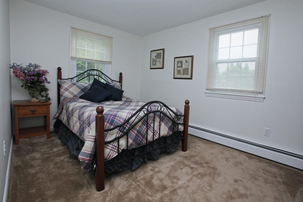 Master bedroom at The Woodlands Apartments in Londonderry, New Hampshire
