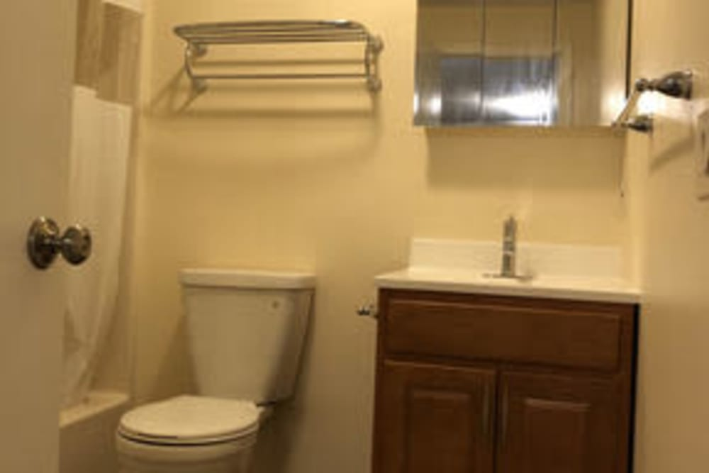 Bathroom at Branch River Apartments in Raymond, New Hampshire