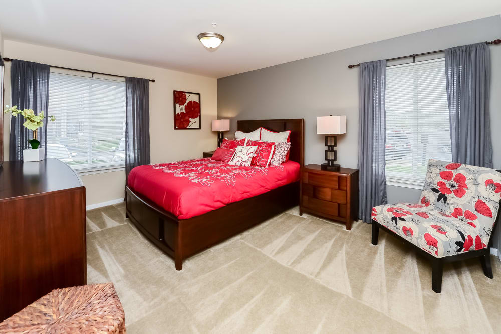 Bedroom at Fox Run Apartments & Townhomes in Bear, Delaware