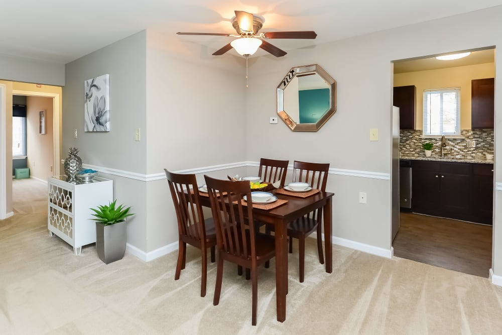 Dining Room Area at Fox Run Apartments & Townhomes in Bear, Delaware